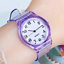 baratos Detectores & Testers-Mulheres Relógios de Quartzo Fashion Minimalista Preta Branco Azul Plastic Chinês Quartzo Vermelho Rosa Roxo Relógio Casual 1 Pça. Analógico