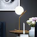 billige Bordlamper-nordiske moderne minimalistiske hvite glass ball bordlampe gull nattbordlamper ledet skrivebordslampe for soveromsgulv seng