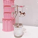 billige 3D gardiner-Europeisk Stil Jern Lysestaker Kandelaber 2pcs, Stearinlys / Stearinlysholder