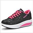ราคาถูก รองเท้าผ้าใบผู้หญิง-สำหรับผู้หญิง รองเท้าผ้าใบ รองเท้าบู้ทส้นเตารีด ปลายกลม PU ไม่เป็นทางการ ฤดูร้อน สีดำ / แดง / ฟ้า