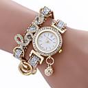 baratos Porta Cosméticos-moda mulheres meninas metal caso couro strass pulseira quartzo elegante relógio de pulso