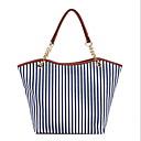 ราคาถูก กระเป๋า Totes-สำหรับผู้หญิง โซ่ ผ้าใบ กรเป๋าหิ้ว สีน้ำเงิน / ทับทิม