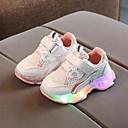 Χαμηλού Κόστους LED Παπούτσια-Κοριτσίστικα LED / Ανατομικό / Φωτιζόμενα παπούτσια Δίχτυ Αθλητικά Παπούτσια Τα μικρά παιδιά (4-7ys) Περπάτημα LED Βυσσινί / Κίτρινο / Ροζ Άνοιξη / Καλοκαίρι / Καοτσούκ