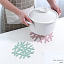 Χαμηλού Κόστους Βάζα & Κουτιά-3pcs νιφάδα χιονιού σχήμα ανθεκτικό στη θερμότητα placemat σπίτι κοίλο μαξιλάρι κατσαρόλα αντι-καυτό mat