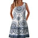 billige Sykkeljerseys-Dame Skjorte Kjole - Geometrisk, Trykt mønster Knelang