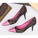 povoljno Ženske cipele s petom-Žene Cipele na petu Stiletto potpetica Mekana koža Proljeće Crn / Pink