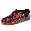 זול סנדלים לגברים-בגדי ריקוד גברים נעלי נוחות PU / בד גמיש אביב קיץ יום יומי סנדלים נושם אדום / כחול / חאקי