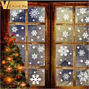 Χαμηλού Κόστους Christmas Stickers-76pcs / set αφαιρούμενη νιφάδα χιονιού σχήμα τοίχο αυτοκόλλητο στατική τέχνη τοιχογραφία για χριστουγεννιάτικη παράθυρο γυαλί διακόσμηση πόρτα