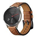 Χαμηλού Κόστους Χωνευτή Τοποθέτηση-μοντέρνο γνήσιο δερμάτινο λουράκι για το smart wristband της garmin vivomove hr