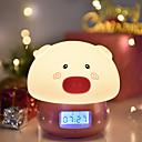 baratos Lâmpada Smart LED-1pç LED Night Light Branco Quente USB Criativo <=36 V