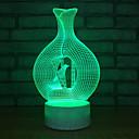 billige Setestolper og sadler-fugl bur 3d fargerik natt lys ledet 3d barn lampe atmosfære ledet liten gave 3d