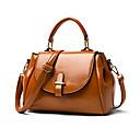 ราคาถูก กระเป๋า Totes-สำหรับผู้หญิง PU กระเป๋าถือยอดนิยม สีทึบ สีดำ / สีน้ำตาล / ไวน์ / ฤดูใบไม้ร่วง & ฤดูหนาว