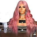 ราคาถูก วิกผมสังเคราะห์-วิกผมสังเคราะห์ คลื่นหลัก ตัดผมหลายชั้น ผมปลอม สีชมพู นานมาก Pink-Purple สังเคราะห์ 65~68 inch สำหรับผู้หญิง สังเคราะห์ สีชมพู