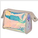 Χαμηλού Κόστους Νεσεσέρ καλλυντικών-PVC Φερμουάρ Τσάντα καλλυντικών Συμπαγές Χρώμα Καθημερινά Ουράνιο Τόξο
