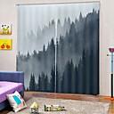 baratos Cortinas 3D-Uv moderno impressão de alta qualidade cortinas espessamento à prova de som para o quarto sala de estar decoração cortina ready made