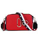 Χαμηλού Κόστους Τσάντες χιαστί-Γυναικεία Φερμουάρ PU Σταυρωτή τσάντα Συνδυασμός Χρωμάτων Μαύρο / Λευκό / Κίτρινο / Φθινόπωρο & Χειμώνας