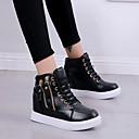 Χαμηλού Κόστους Γυναικεία Αθλητικά-Γυναικεία Αθλητικά Παπούτσια Κρυφό τακούνι PU Άνοιξη & Χειμώνας Μαύρο / Λευκό