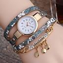 baratos Brincos-Mulheres Relógio Elegante Quartzo Couro Relógio Casual Analógico Clássico - Roxo Fúcsia Vermelho
