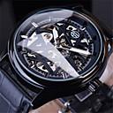 Χαμηλού Κόστους Σετ τσάντες-Ανδρικά μηχανικό ρολόι Αυτόματο κούρδισμα Γνήσιο δέρμα Μεγάλο καντράν Ημέρα ημέρας Αναλογικό Πολυτέλεια Κλασσικό - Μαύρο Χρυσό