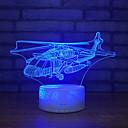 billige Setestolper og sadler-bursdagsgaver for gutter 3d illusjon nattlys pultlampe 7 farger med flyfly
