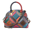 cheap Abstract Paintings-Women's Sheepskin Top Handle Bag Color Block Rainbow / Fall & Winter