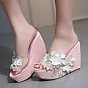 povoljno Ženske sandale-Žene Sandale Wedge Heel PU Ljeto Obala / Zlato / Pink