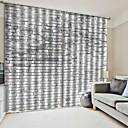 billige Flush Mount-lamper-moderne enkle vindusgardiner design 3d uv-utskrift 100% polyester blackout stoff dekorative gardiner soverom / stue / hotell