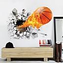 baratos Cortinas 3D-3d corrida de basquete para fora adesivos de parede arte decalque kids room
