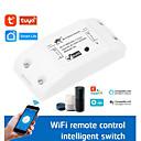Χαμηλού Κόστους Smart Switch-wifi on / off / tuya έξυπνη ζωή / χρονομετρημένο ασύρματο τηλεχειριστήριο για τηλεφωνικό / φωνητικό έλεγχο εφαρμογών / tuya app wifi 10a έξυπνος διακόπτης