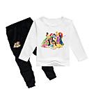 Χαμηλού Κόστους Σετ ρούχων για κορίτσια-Παιδιά Νήπιο Κοριτσίστικα Βασικό Στάμπα Στάμπα Μακρυμάνικο Κανονικό Κανονικό Βαμβάκι Σετ Ρούχων Γκρίζο