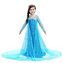 povoljno Movie & TV Theme Costumes-Princeza Elsa Haljine Djevojčice Filmski Cosplay uzorak haljina Plava / Pink Haljina Dječji dan Maškare Miješani materijal