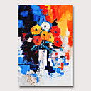 ราคาถูก ภาพวาดวิวทิวทัศน์-ภาพวาดสีน้ำมันแขวนทาสี มือวาด - แอ็ปสแต็ก ลวดลายดอกไม้ / เกี่ยวกับพฤษศาสตร์ ที่ทันสมัย โดยไม่ต้องภายในกรอบ
