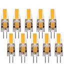 Χαμηλού Κόστους LED Bi-pin Λαμπτήρες-10pcs 3 W LED Φώτα με 2 pin 290 lm G4 1 LED χάντρες COB Διακοσμητικό Lovely Θερμό Λευκό Ψυχρό Λευκό 12 V