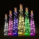 billige LED-stringlys-1pc Vinflaske Stopper LED Night Light Varm hvit Dekorasjon / Atmosfære Lampe
