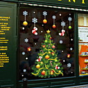 olcso Christmas Stickers-karácsonyfa ablak film& amp; amp; matrica dekoráció állat / mintás ünnep / karakter / geometriai pvc (polivinil-klorid) ablak matrica