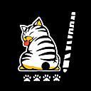זול אירגוניות לרכב-קריקטורה מצחיק זנב חתול סטיקרים מדבקות רכב רפלקטיביים deacals