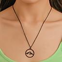 levne Módní náhrdelníky-Pánské Dámské Náhrdelník Chrome Černá Stříbrná 53 cm Náhrdelníky Šperky 1ks Pro Dovolená