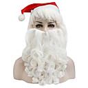 お買い得  クリスマス用コスチューム-サンタスーツ ハット コスプレウィッグ 仮面舞踏会 成人 男性用 ハロウィーン クリスマス クリスマス ハロウィーン カーニバル イベント/ホリデー ウール ホワイト カーニバルコスチューム ソリッド