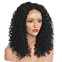 Χαμηλού Κόστους Συνθετικές περούκες χωρίς σκουφί-Συνθετικές Περούκες Afro Kinky Κούρεμα με φιλάρισμα Περούκα Μεσαίου Μήκους Μαύρο Συνθετικά μαλλιά 40~44 inch Γυναικεία Νέα άφιξη Μαύρο