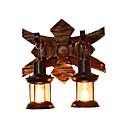 billige Vegglamper-rustikk vegg sconce trevegg lysarmatur retro vintage / rustikk / lodge flush mount vegg lys butikker / kafeer / stuen / kontor / bar