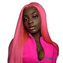 Χαμηλού Κόστους Συνθετικές περούκες με δαντέλα-Συνθετικές μπροστινές περούκες δαντέλας Ίσιο Ελεύθερο μέρος Με μικρές μπούκλες Δαντέλα Μπροστά Περούκα Ροζ Μακρύ Ροζ Blonde Μπλε Συνθετικά μαλλιά 18-24 inch Γυναικεία / Ανθεκτικό στη Ζέστη