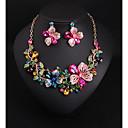 Χαμηλού Κόστους Σετ Κοσμημάτων-Γυναικεία Κρυστάλλινο Νυφικό κόσμημα σετ Πολυέλαιος Λουλούδι Love Μοντέρνο Κομψό Σκουλαρίκια Κοσμήματα Ροδοκόκκινο Για Γάμου Πάρτι 1set