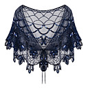 ราคาถูก ผ้าคลุมสำหรับชุดแต่งงาน-เสื้อไม่มีแขน ชิฟฟอน / เลื่อม / polyster งานแต่งงาน / งานปาร์ตี้ / งานราตรี Women's Wrap กับ เลื่อม ผ้าคลุมไหลถัก