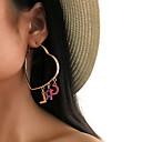 זול עגילים-בגדי ריקוד נשים עגילי טיפה עגיל עגילים תכשיטים זהב עבור Party יומי רחוב חגים פֶסטִיבָל זוג 1