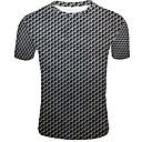 baratos Sapatos de Salto-Homens Camiseta 3D Preto
