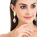 זול עגילים-בגדי ריקוד נשים עגילי טיפה עגיל ציפוי עגילים תכשיטים זהב עבור Party יומי רחוב חגים פֶסטִיבָל זוג 1
