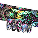 ราคาถูก สติกเกอร์ติดเล็บ-16 ชิ้นงูออกแบบเล็บฟอยล์โฮโลแกรม s tarry sky ฟอยล์โอนสติ๊กเกอร์ 20 * 4 เซนติเมตรทำเล็บมือเล็บ d ecals