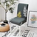 baratos Cobertura de Cadeira-capa para cadeira slipcovers padrão floral cinza / em poliéster impresso / altamente resistente / fácil de instalar