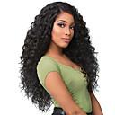 Χαμηλού Κόστους Συνθετικές περούκες χωρίς σκουφί-Συνθετικές Περούκες Afro Kinky Κούρεμα με φιλάρισμα Περούκα πολύ μακριά Μαύρο Συνθετικά μαλλιά 62~65 inch Γυναικεία Νέα άφιξη Μαύρο