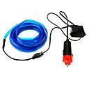 billige Sett med sykkeltrøyer og shorts/bukser-2m fleksibel neon lett bil el wire tau rør led stripe vanntett fest dekor lampe med 12v controller